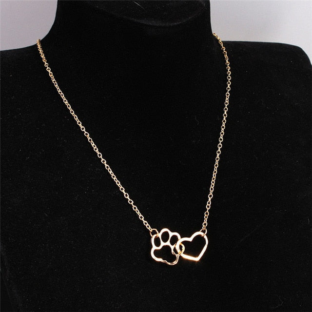 Paw Heart Necklace