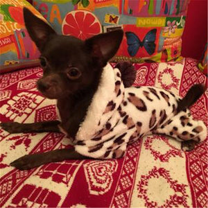 Small dogs Jumpsuit Leopard Print