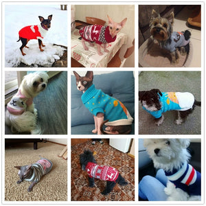 Warm Sweater Christmas For Small Dogs