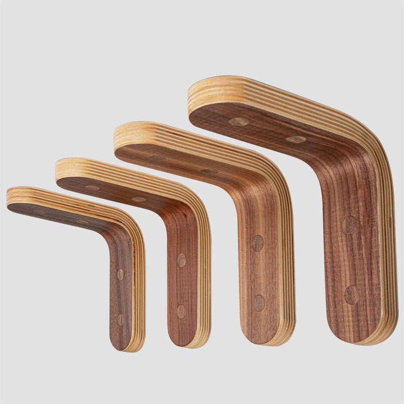 """La Graviere"" Shelf Brackets in Walnut Ply"