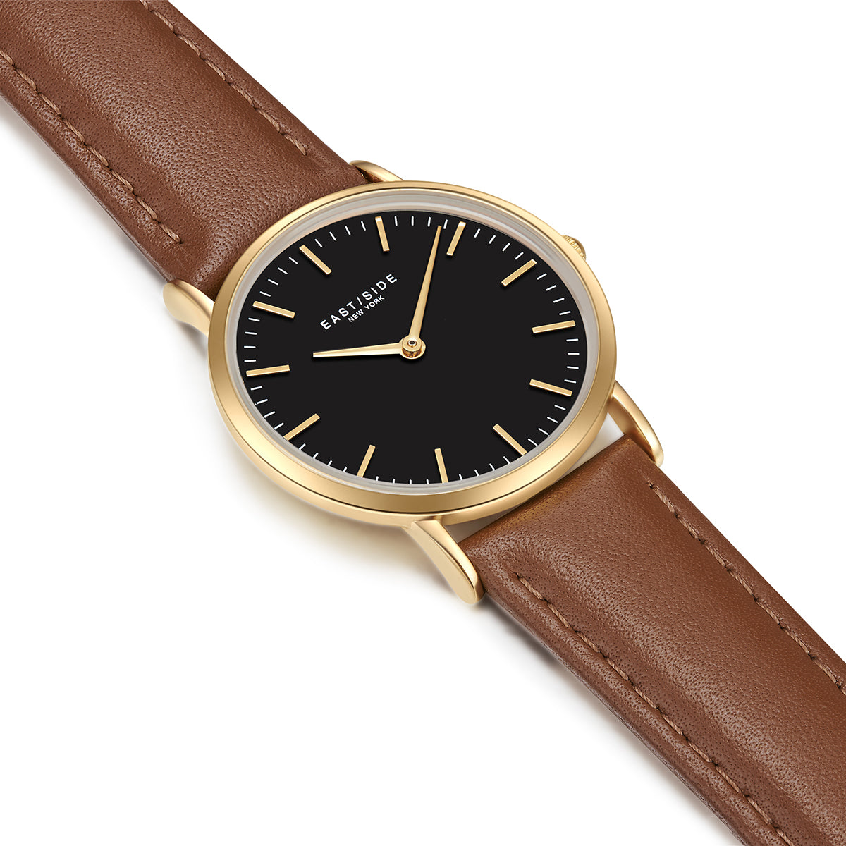 East Village Lady Watch light brown yellow gold