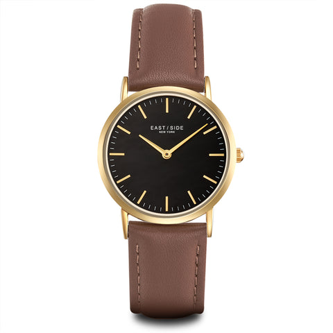 East Village Lady Watch brown roségold