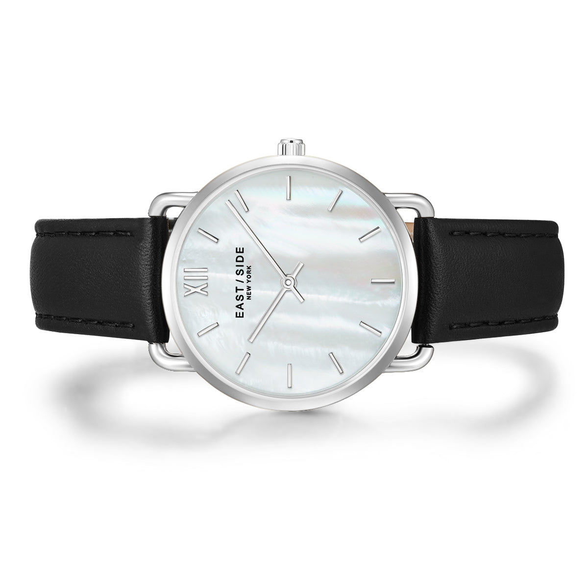 Pearl Lady Watch black silver