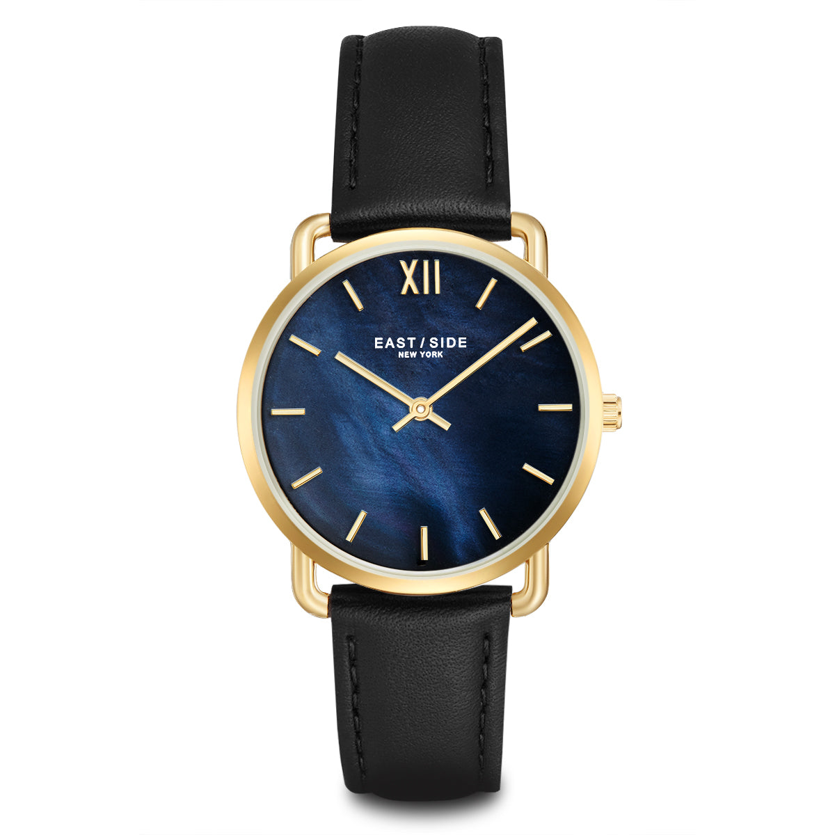 Pearl Lady Watch black yellow gold