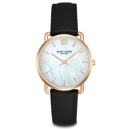 Pearl Lady Watch black roségold