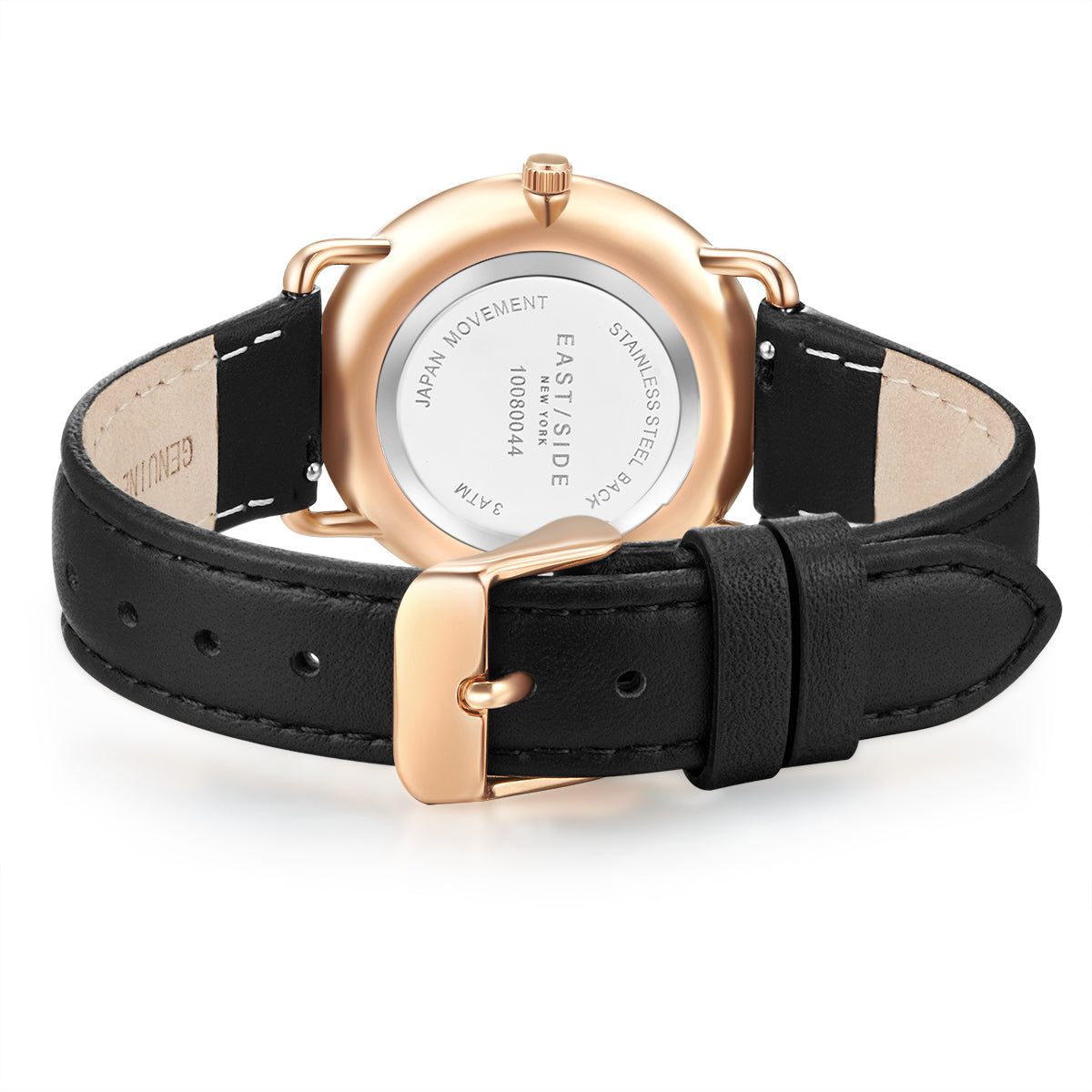 Pearl Lady Watch black rosé gold