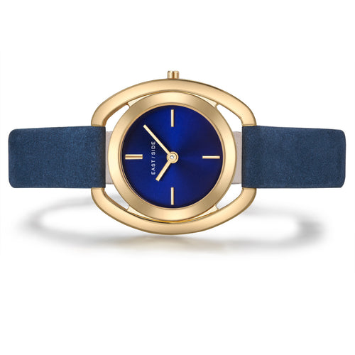 Westwille Lday Watch blue yellow gold