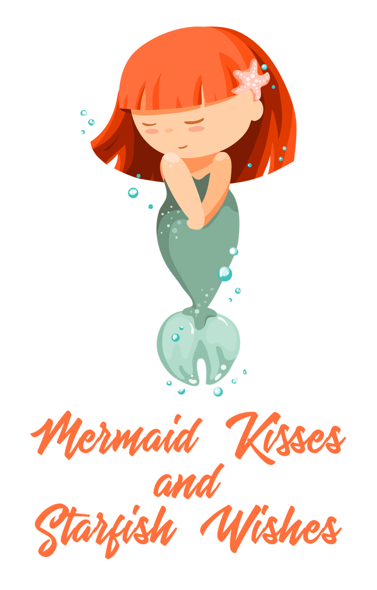 'Mermaid Kisses and Starfish Wishes' Shy Mermaid