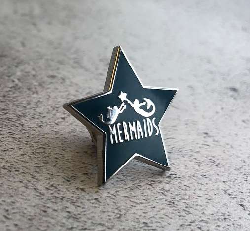 Mermaids UK Enamel Badge (25mm)