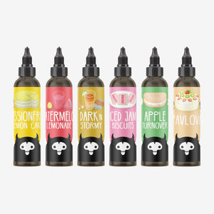 Image of all Bunyip eJuices in 120ml bottles