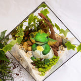 Miniature Fairy Garden and Terrarium Dragon - Mini Birthday Egg Statue - for Outdoor or House Decor