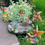 Fairy garden House set Miniature Figurines pond Kit Accessories Gnome Mood Lab