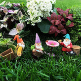 Garden Gnome House Fairy set Miniature Figurines Kit Accessories Mood Lab