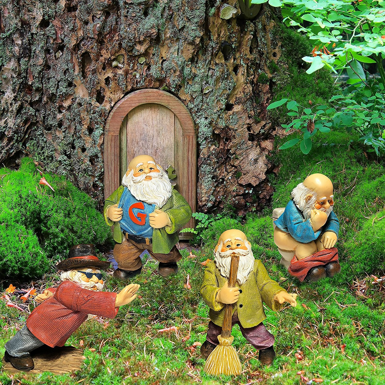 miniature garden gnomes gnome figurines mini funny gnomes set of 4 pcs hand - Funny Garden Gnomes