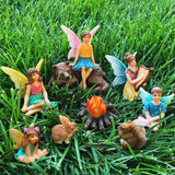 Fairy garden House set Miniature Figurines camping Kit Accessories Gnome Mood Lab