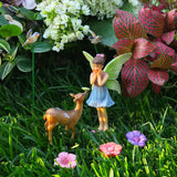 Fairy garden House set Miniature Figurines deer Kit Accessories Gnome Mood Lab
