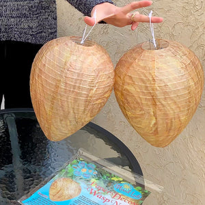Wasp Nest Decoy - 2 Pack - Hanging Fake Wasp Nest