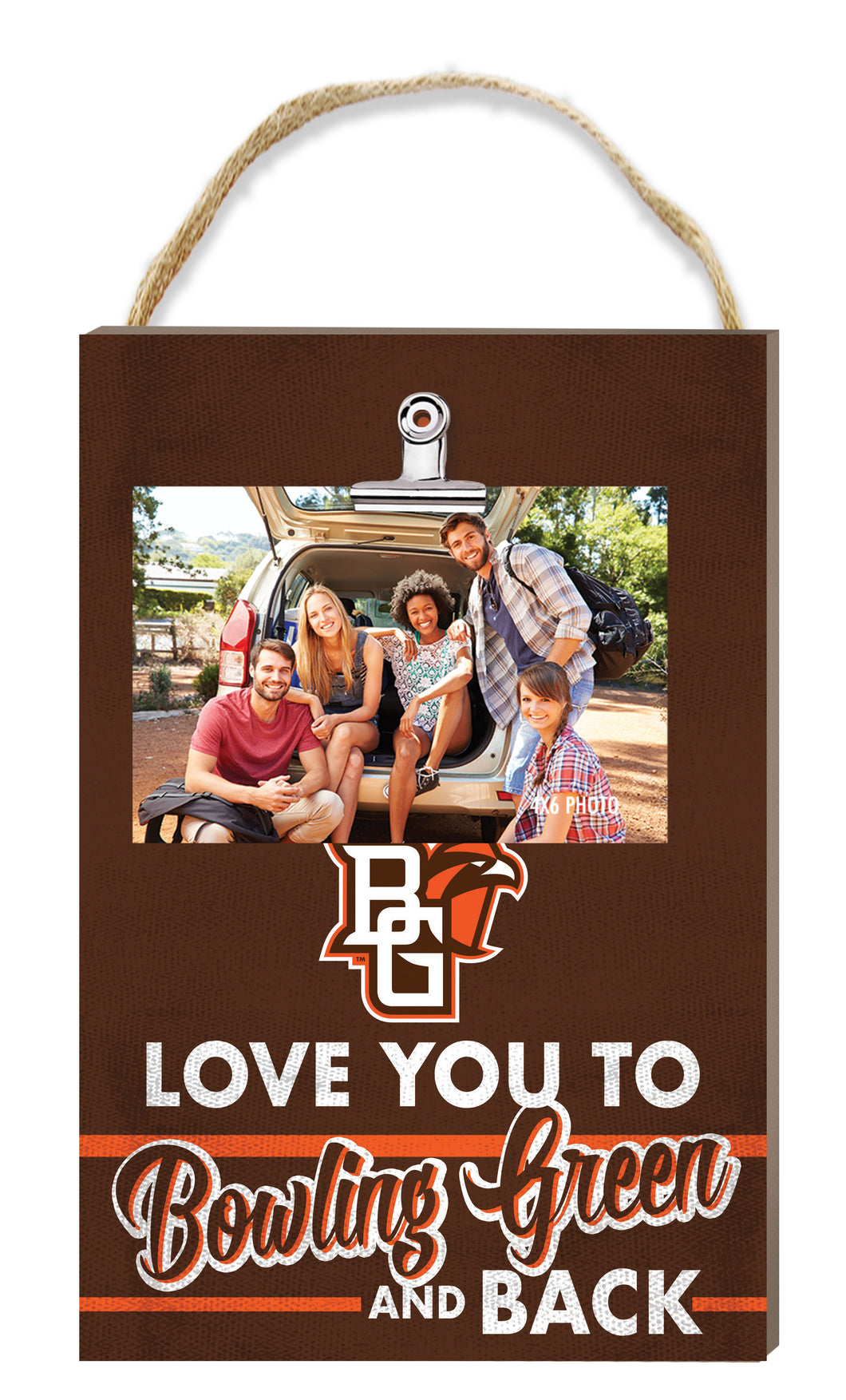 Kindred Heart 8X12 Hanging Clip Photo Plaque Love You To