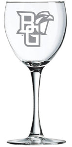 RFSJ 12oz Clear Stem Wine Glass with Frost Mark