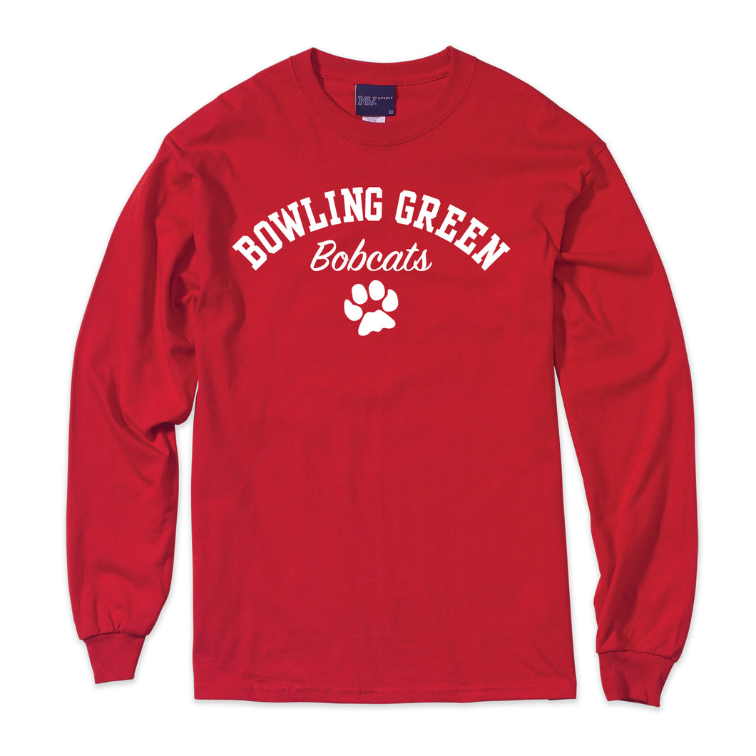 MV BG Bobcats LS Tee Red