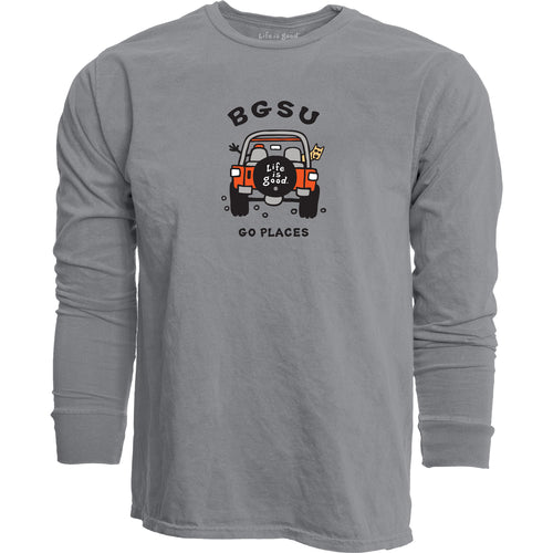 Blue 84 BGSU Life is Good Go Places LS Tee