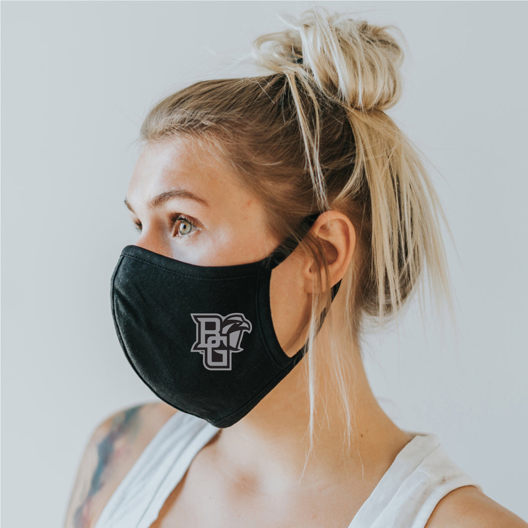 Blue 84 Face Mask Black with Silver Primary Athletic Mark