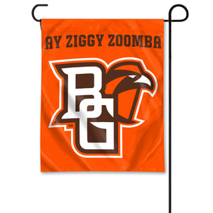 University Flag Garden Flag with Primary Athletic Mark Logo and Ay Ziggy