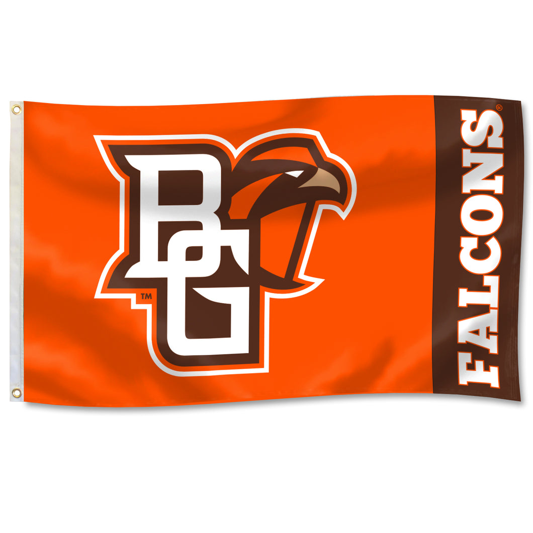 University Flag 3' x 5' Flag with Primary Athletic Mark Logo with Falcons