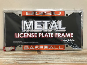 BGSU Baseball License Plate Frame