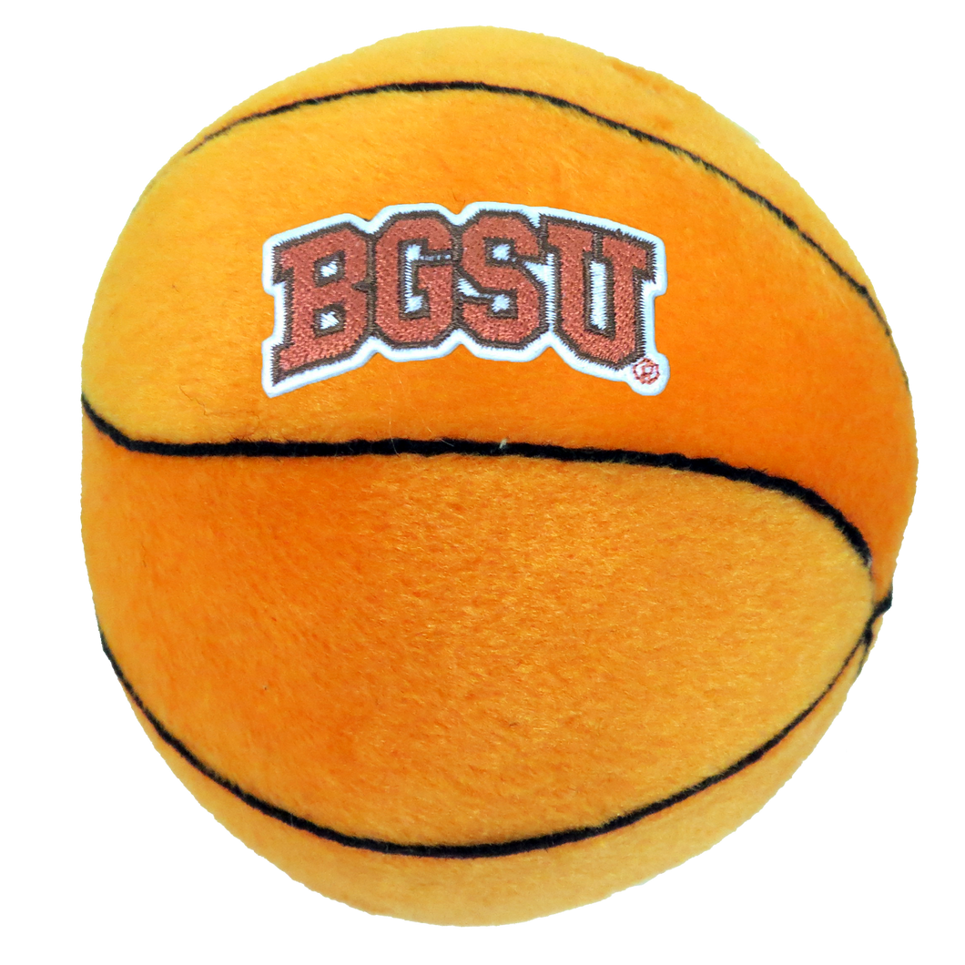 Plush Basketball with BGSU Embroidery