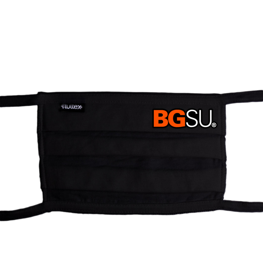 Ouray Tultex Black BGSU Face Mask