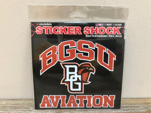 BGSU Aviation Decal 6X6