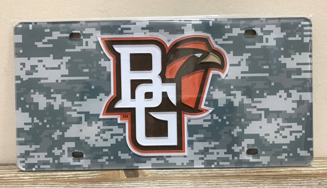 Front License Plate Camo Logo