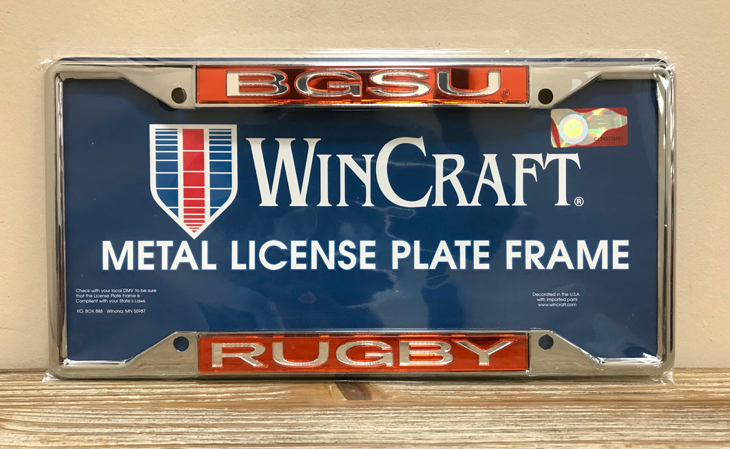 BGSU Rugby License Plate Frame