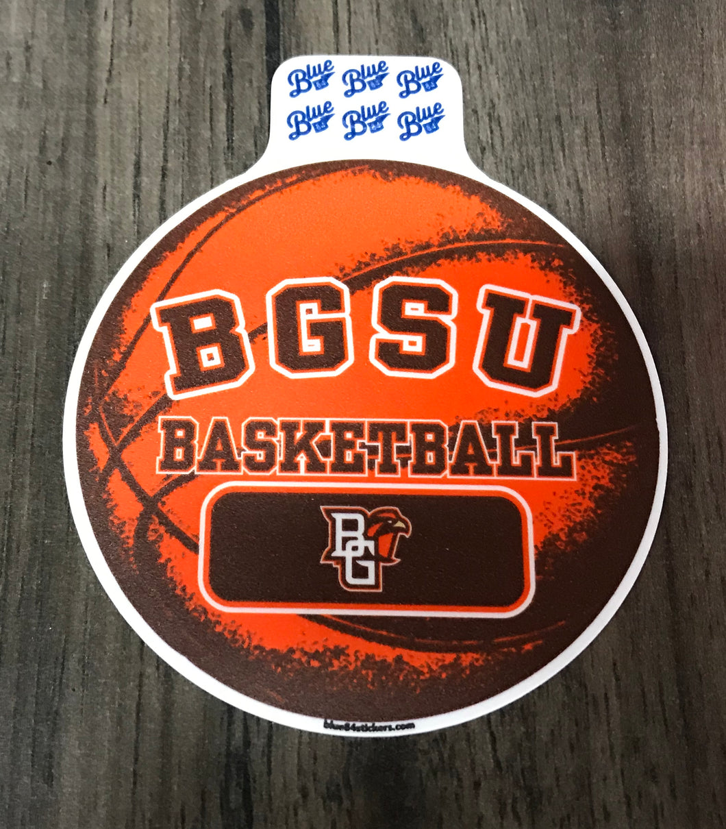 Blue 84 Moveable Small Basketball Sticker