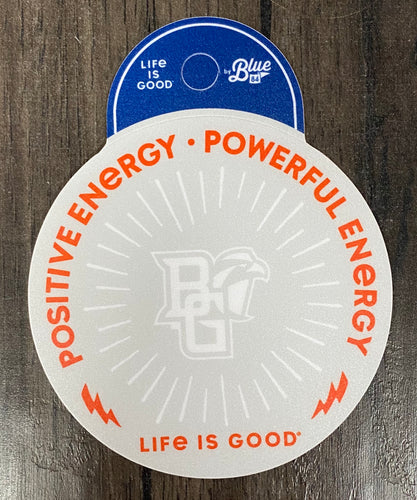 Blue 84 Life is Good Positive Energy Sticker