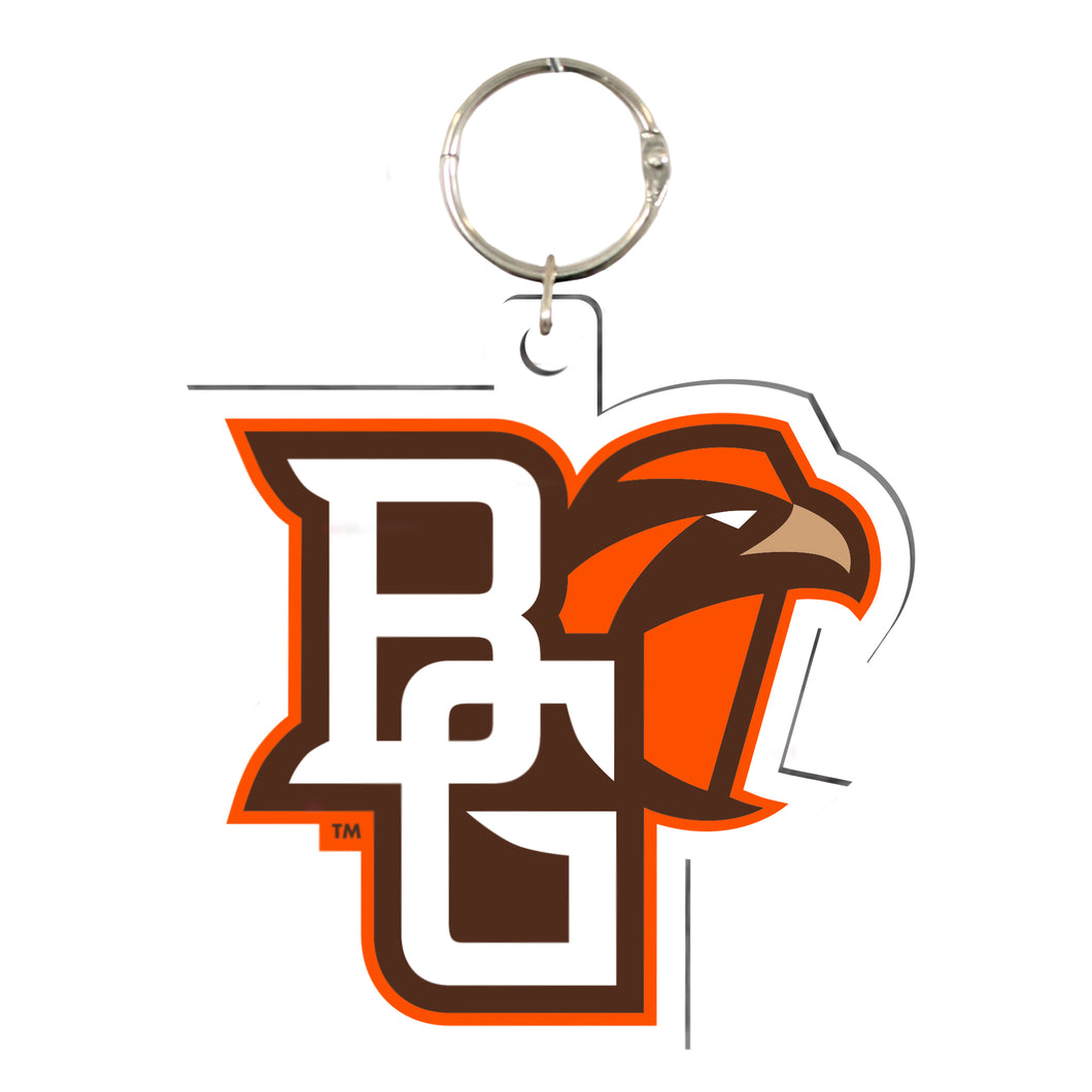 BGSU Acrylic Key Ring with Peekaboo