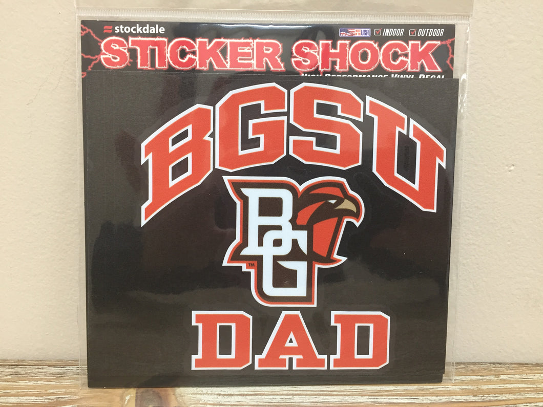 BGSU Dad Decal 6X6