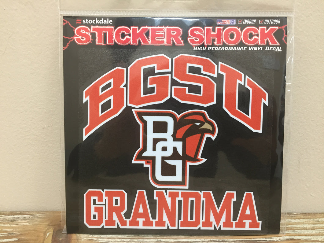 BGSU Grandma Decal 6X6