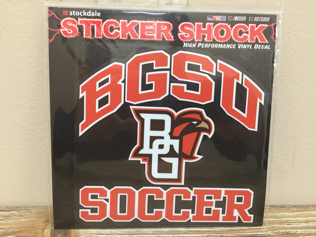 BGSU Soccer Decal 6X6
