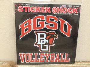 BGSU Volleyball Decal 6X6