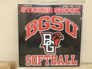 BGSU Softball Decal 6X6