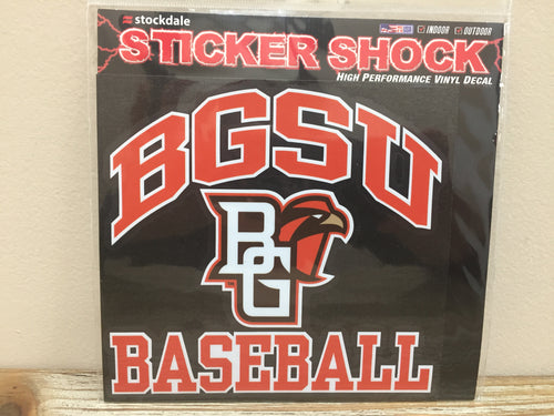 BGSU Baseball Decal 6X6