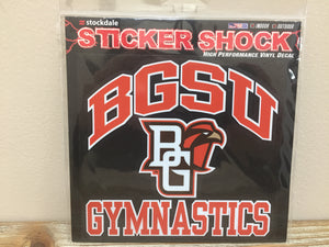 BGSU Gymnastics Decal 6X6