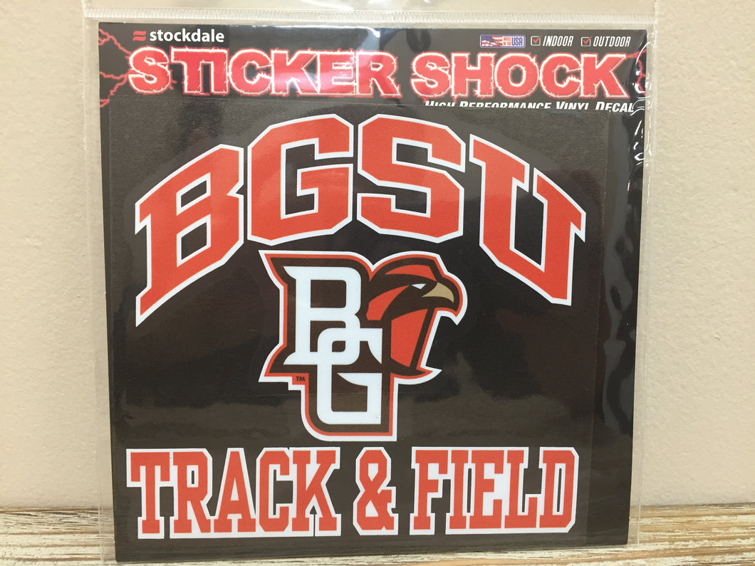 BGSU Track & Field Decal 6X6