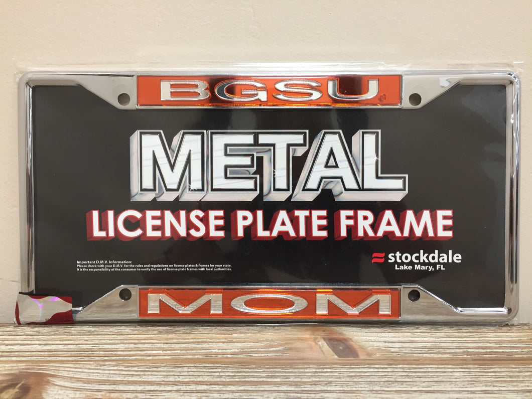 BGSU Mom License Plate Frame