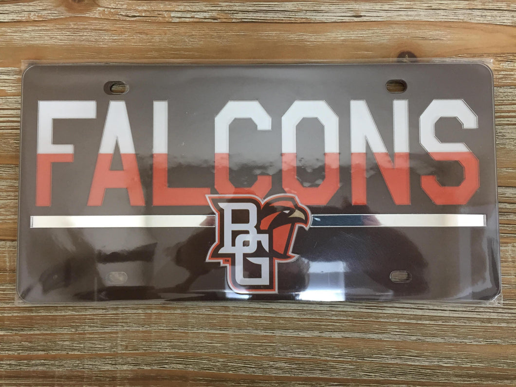 Front License Plate Falcons Brown & Orange