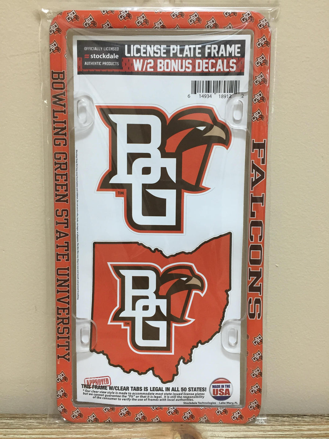License Frame Decal Combo Pack