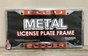 BGSU Soccer License Plate