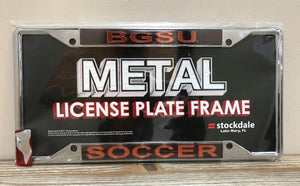 BGSU Soccer License Plate #2